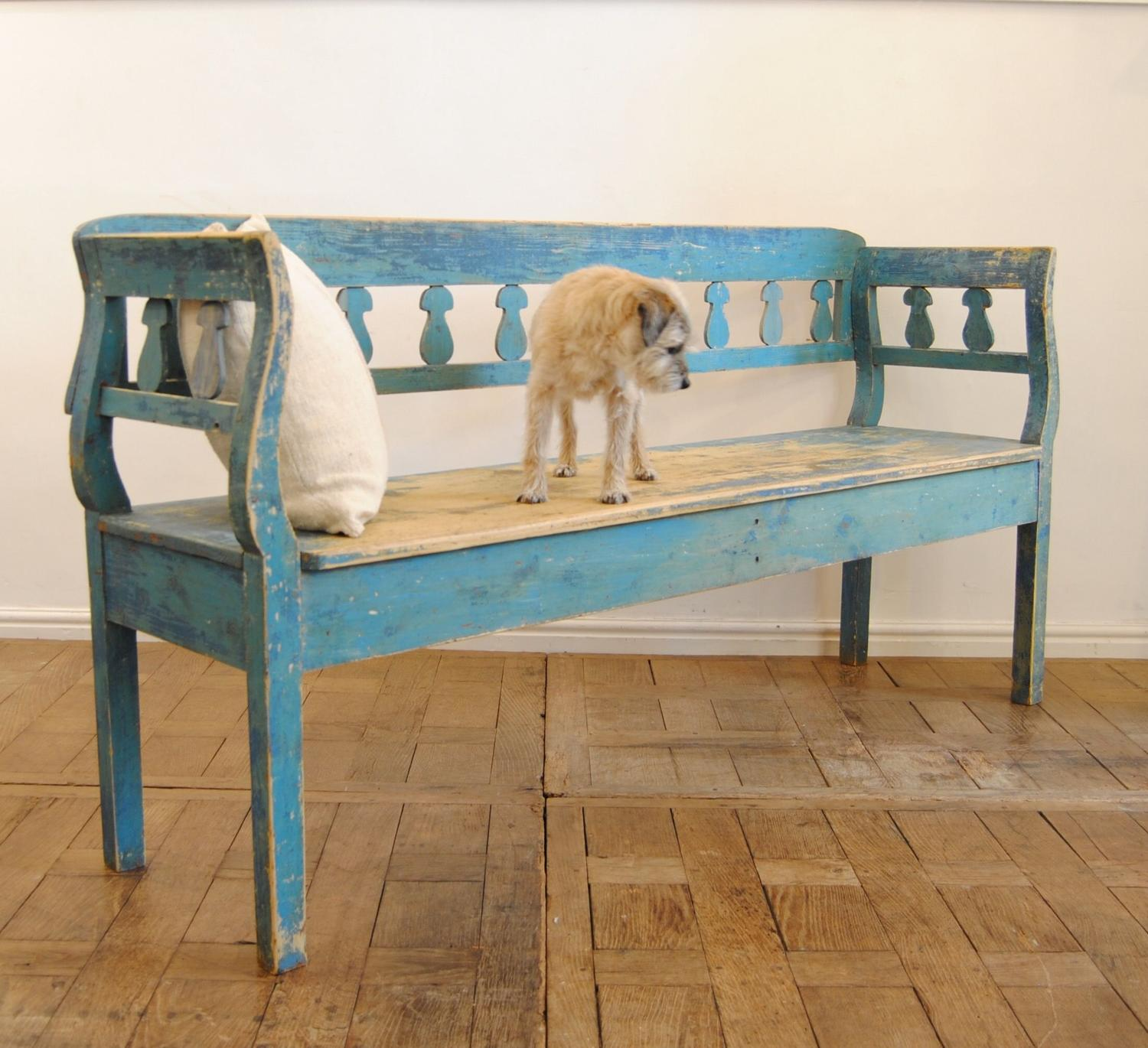 Hungarian Painted Bench