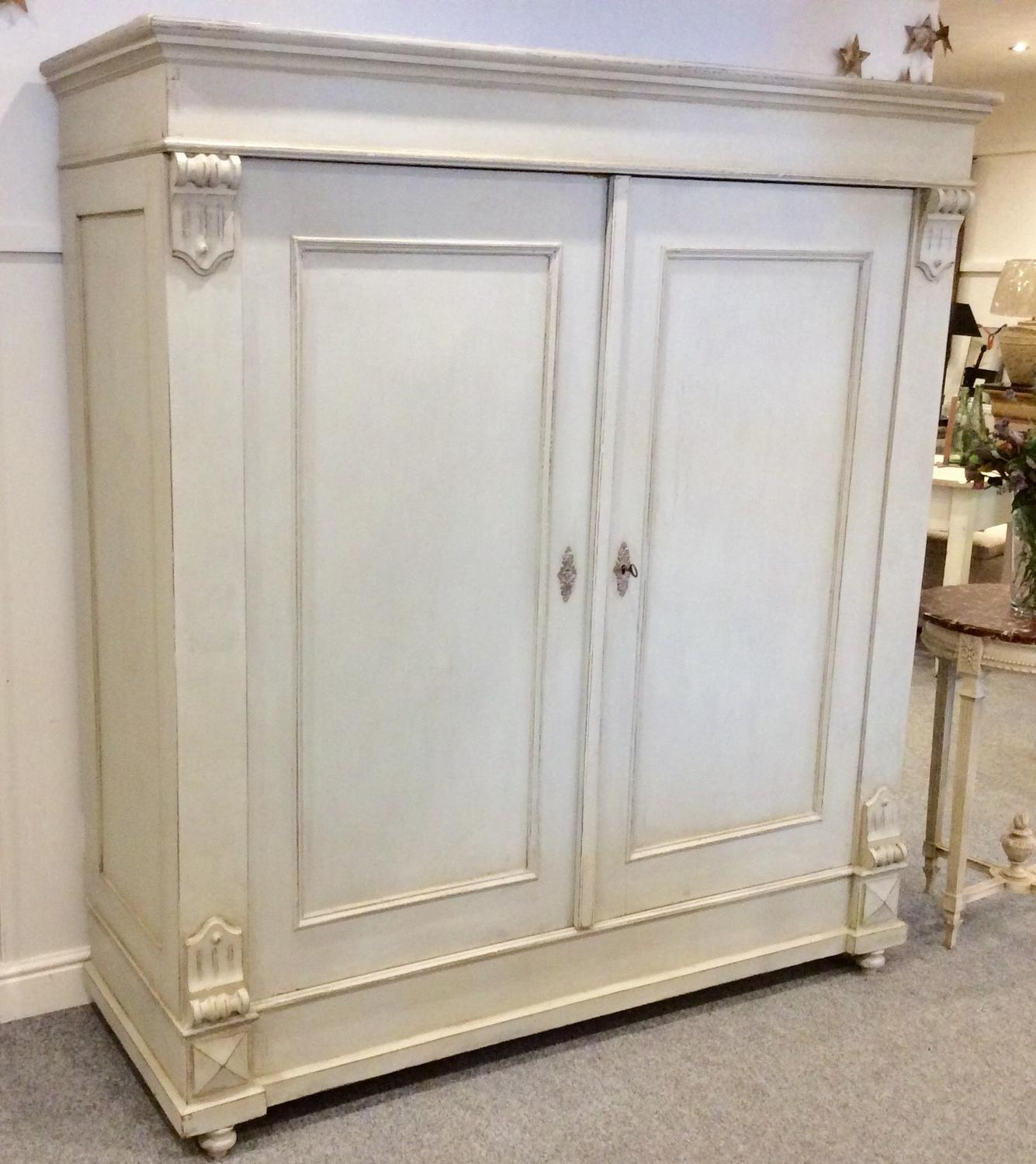 Painted Continental Wardrobe/Cupboard