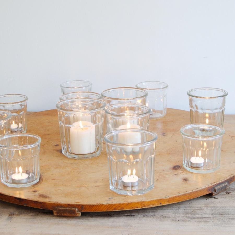 French vintage glass jars/flower holders