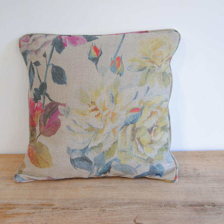 Cushions in vintage and Designer Guild fabrics