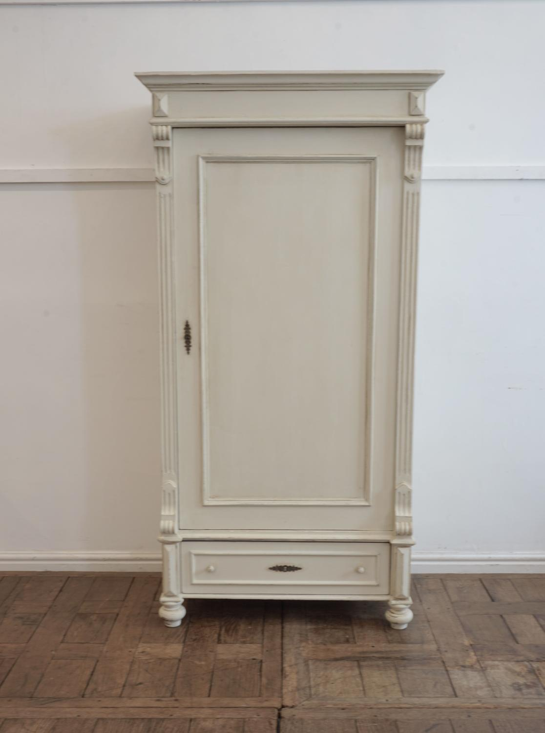 Continental single door painted cupboard/wardrobe