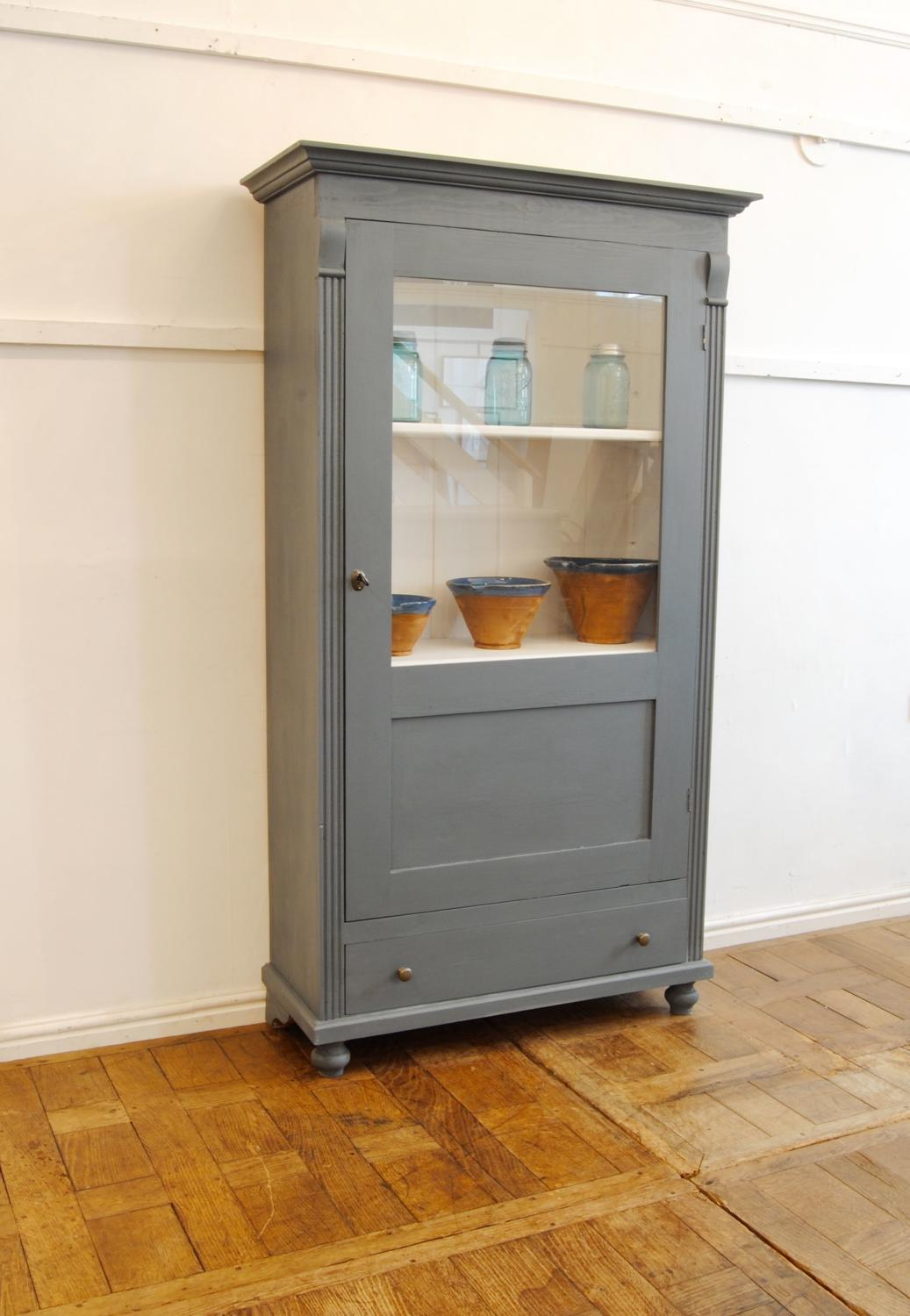 Continental painted glazed cabinet