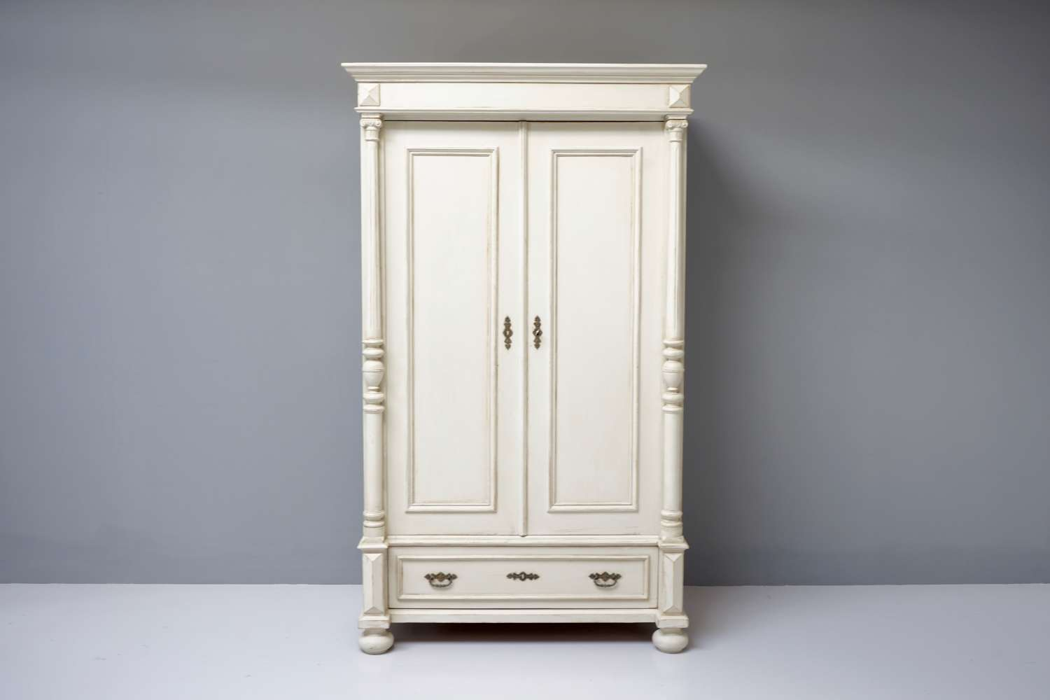 Painted continental wardrobe