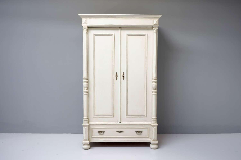 Painted continental wardrobe