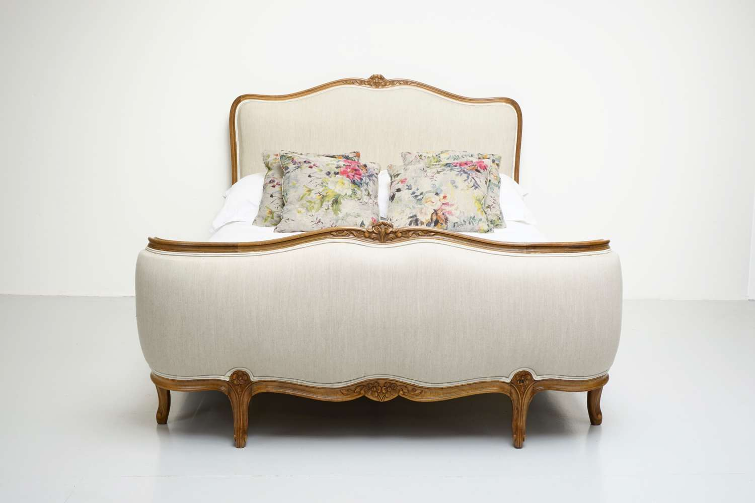 French Double Demi Corbeille Bed