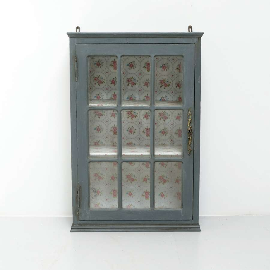 French glazed wall cabinet