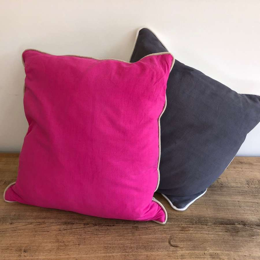French vintage linen cushions