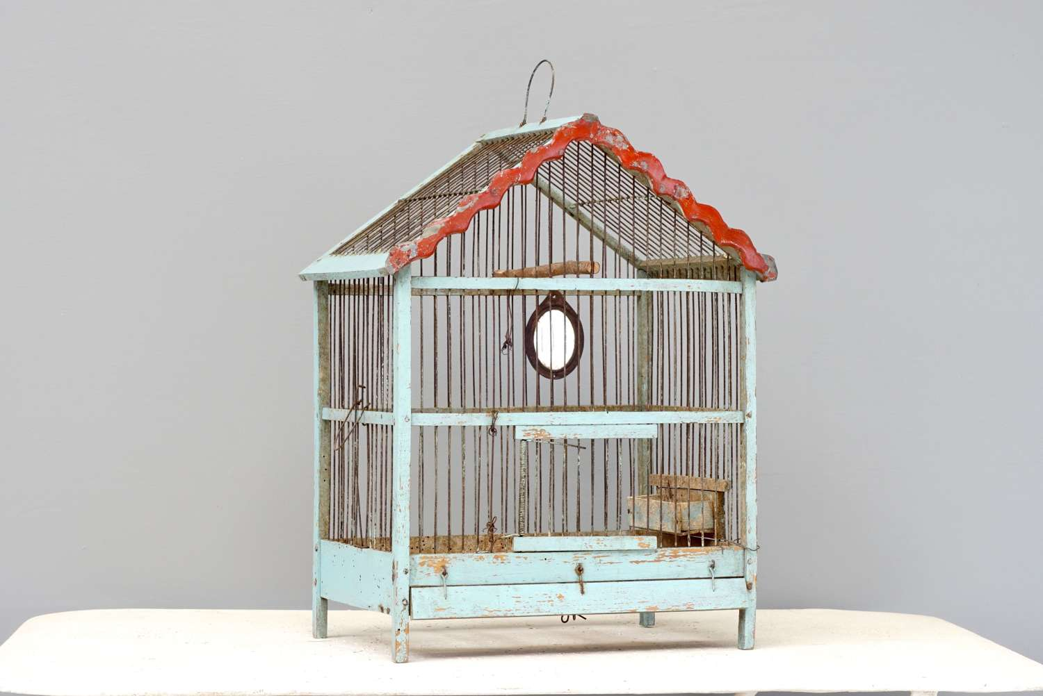 French wooden bird cage