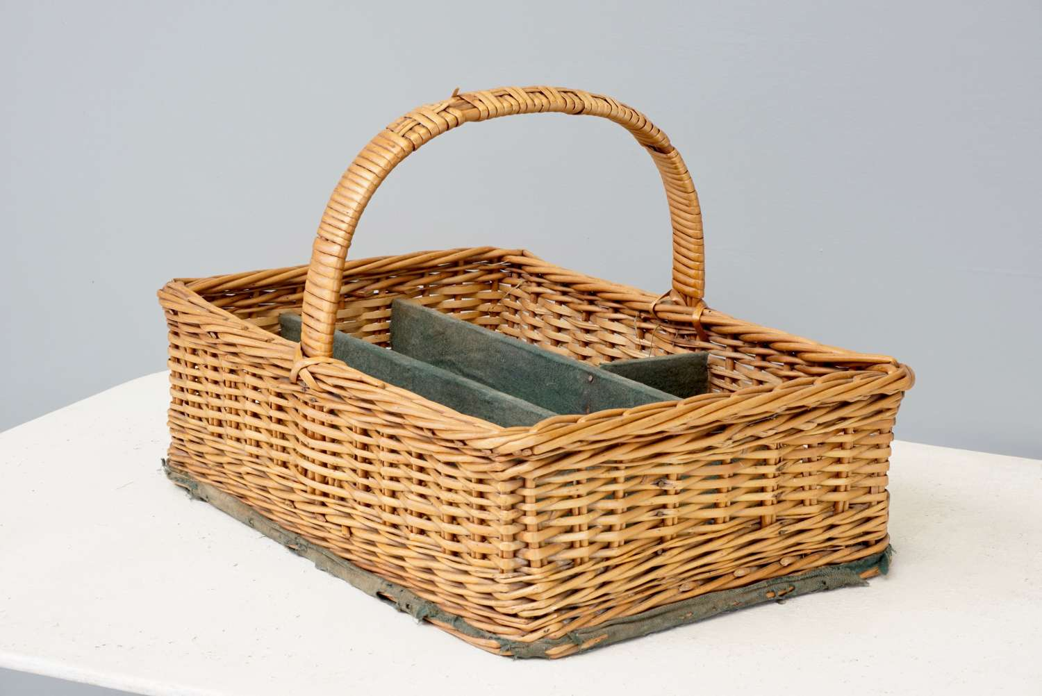 Wicker cutlery basket