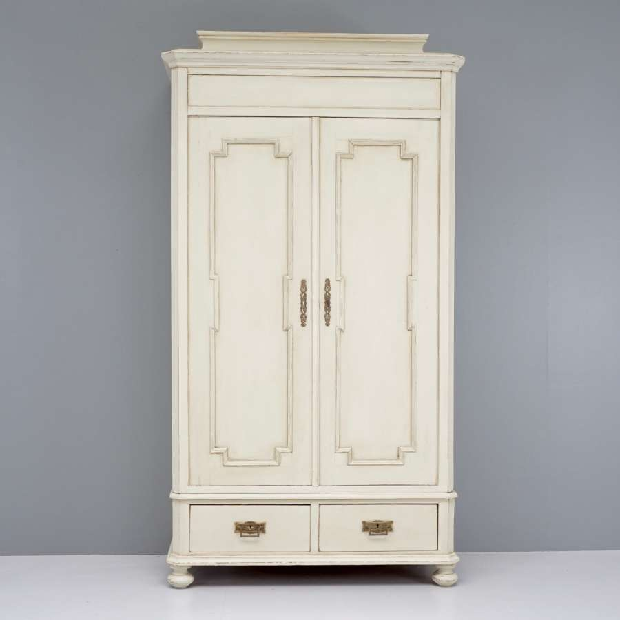 Continental painted wardrobe