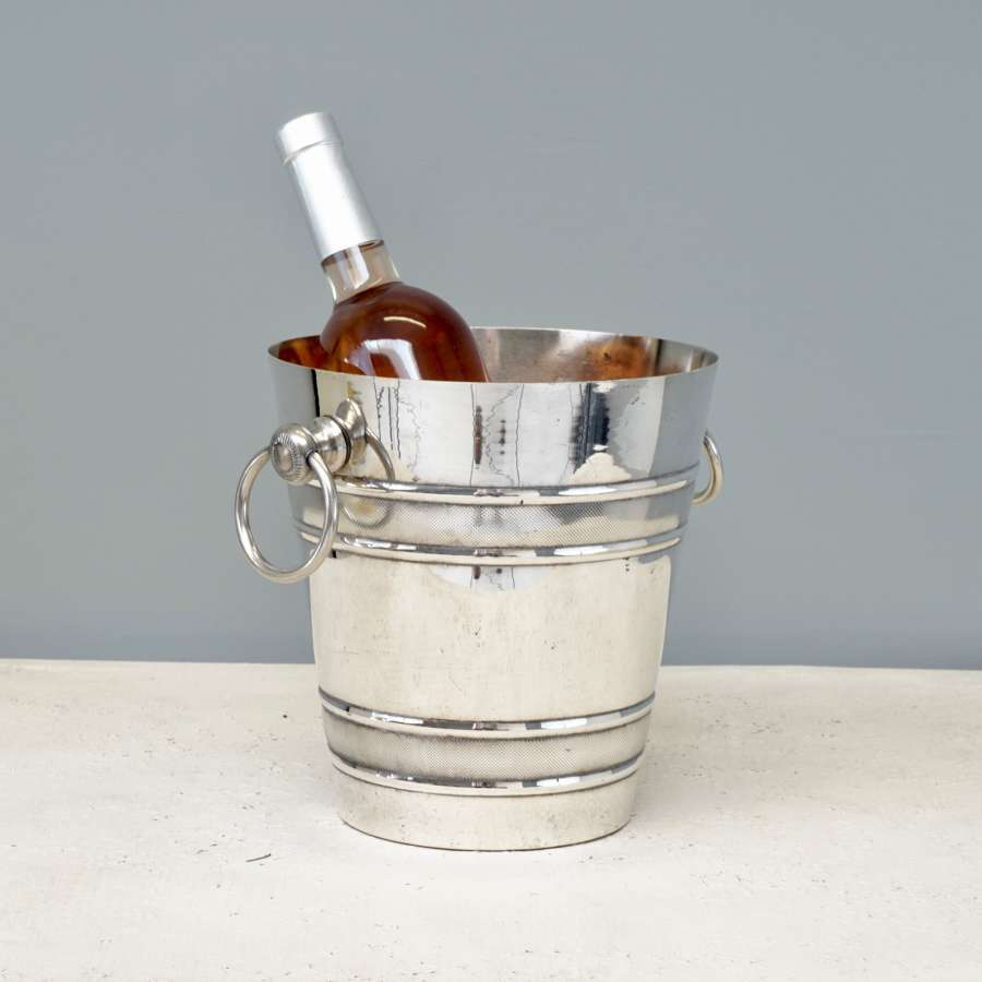 French silver-plated ice bucket