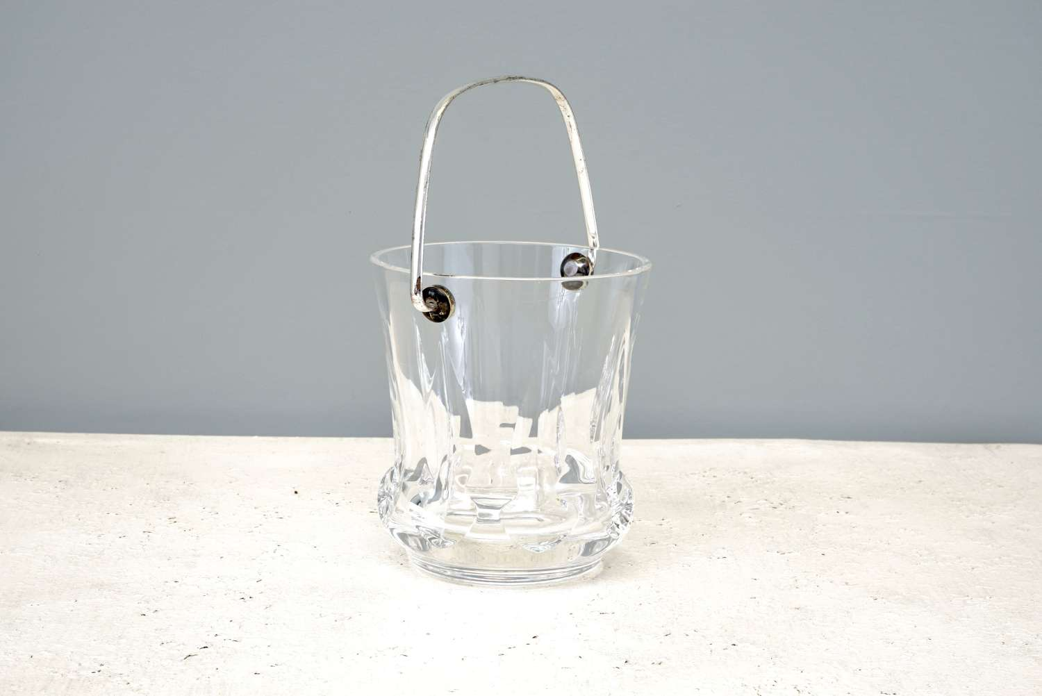 French glass ice bucket
