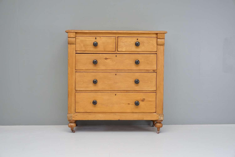 Scottish pine chest of drawers