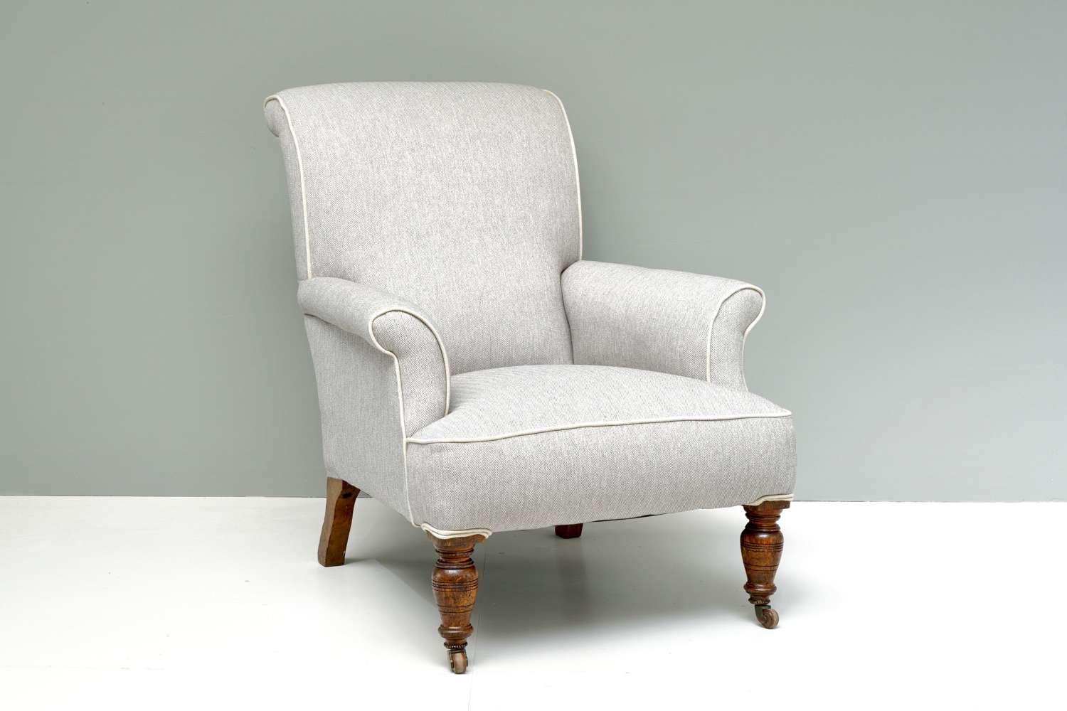 English country house reupholstered chair