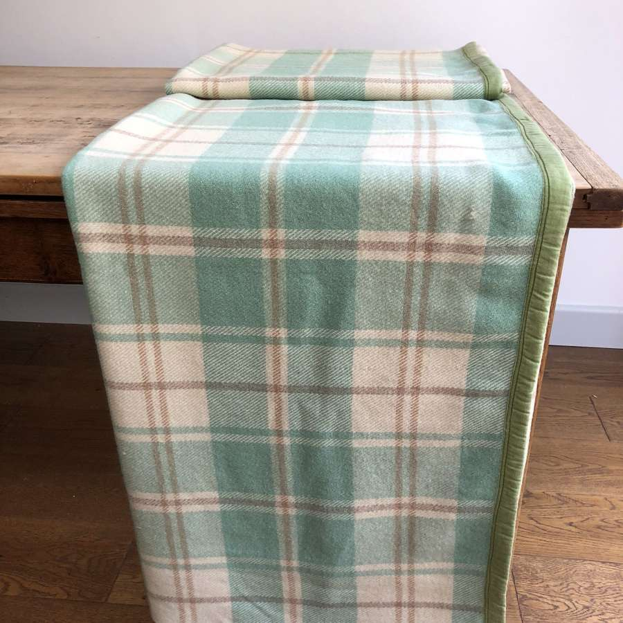 Wool check blanket