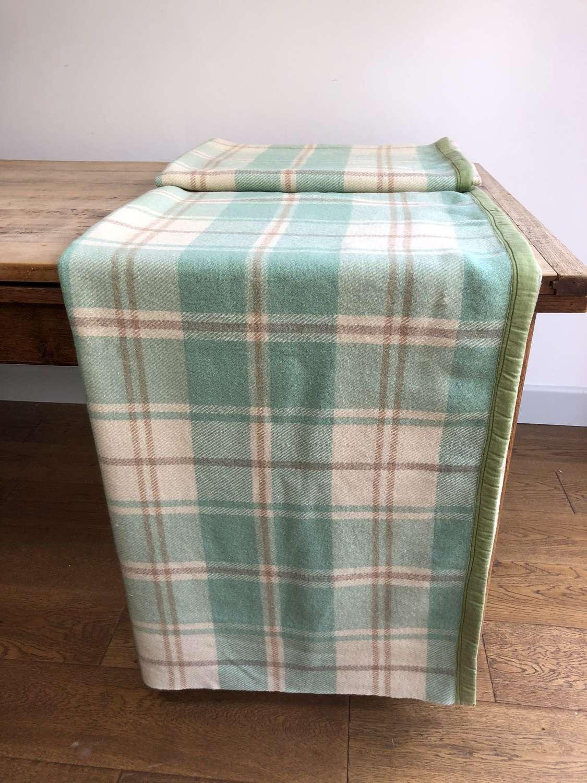 Wool check blanket