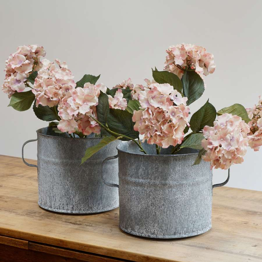 Pair of Large Zinc Planters