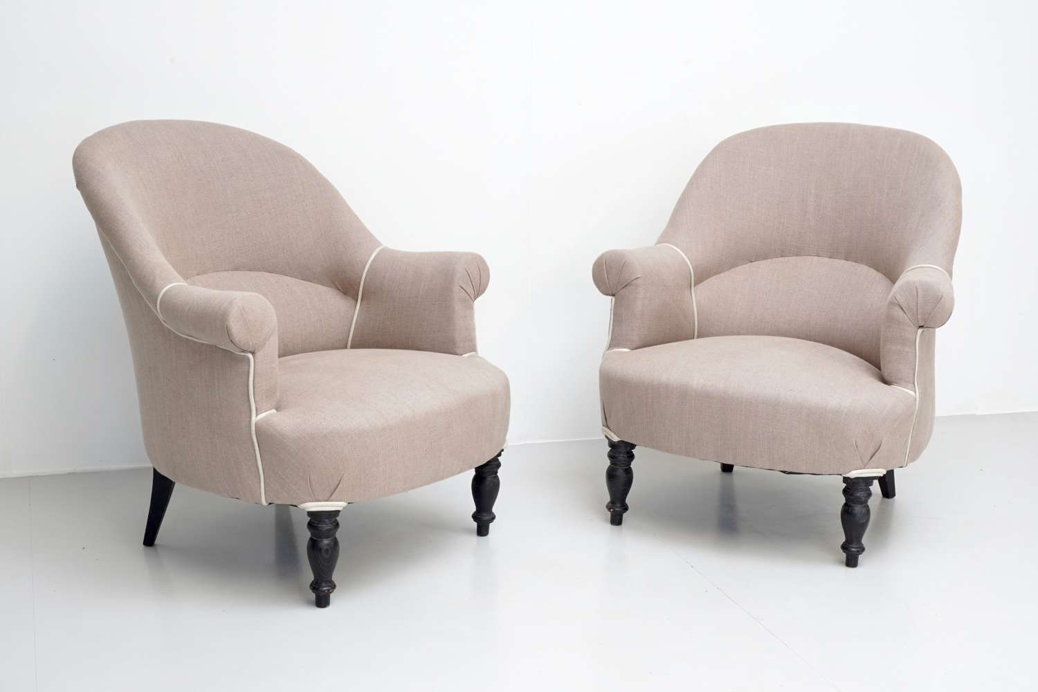 Pair of French Upholstered Chairs