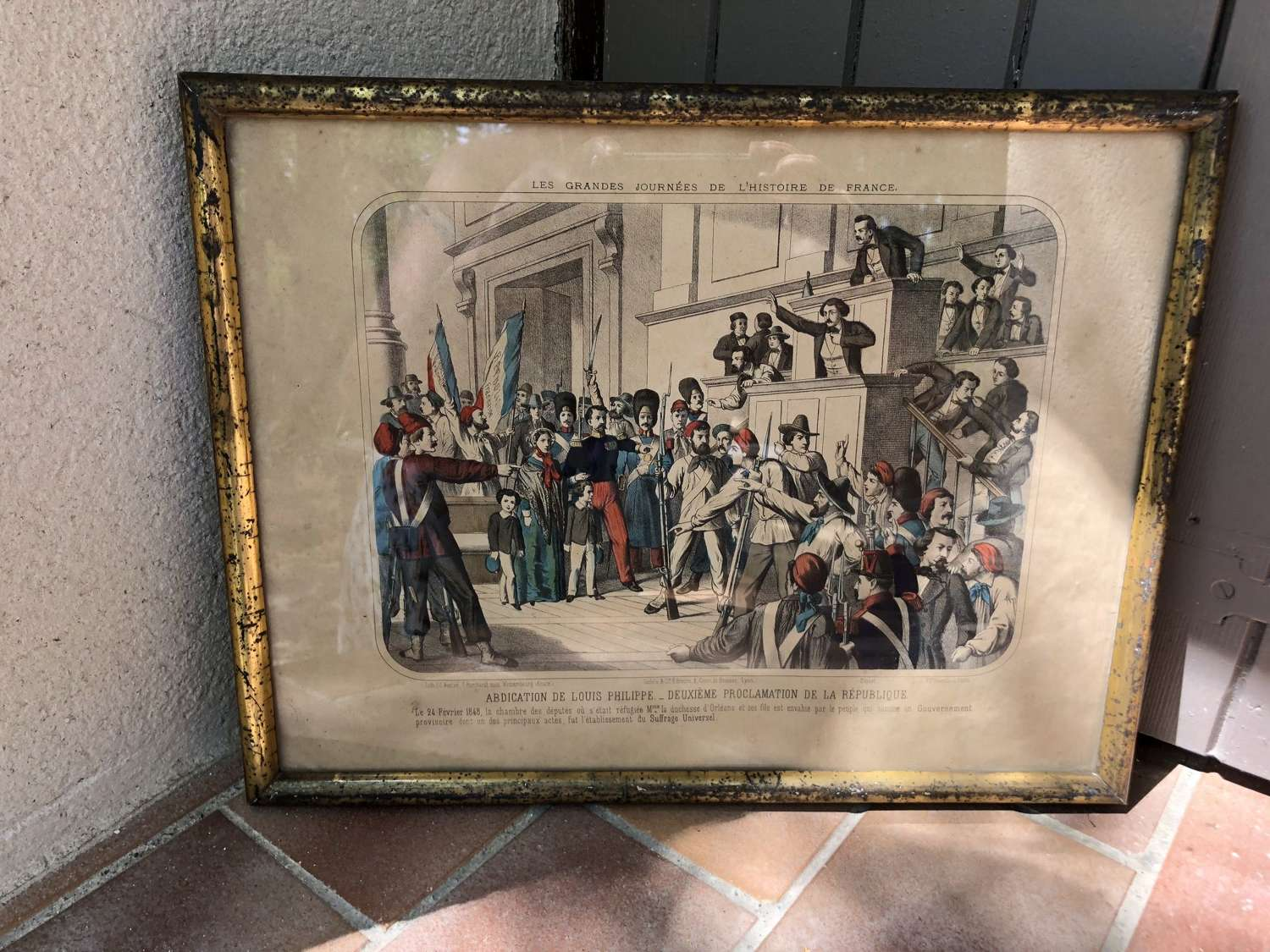 French Picture with Gilded Frame