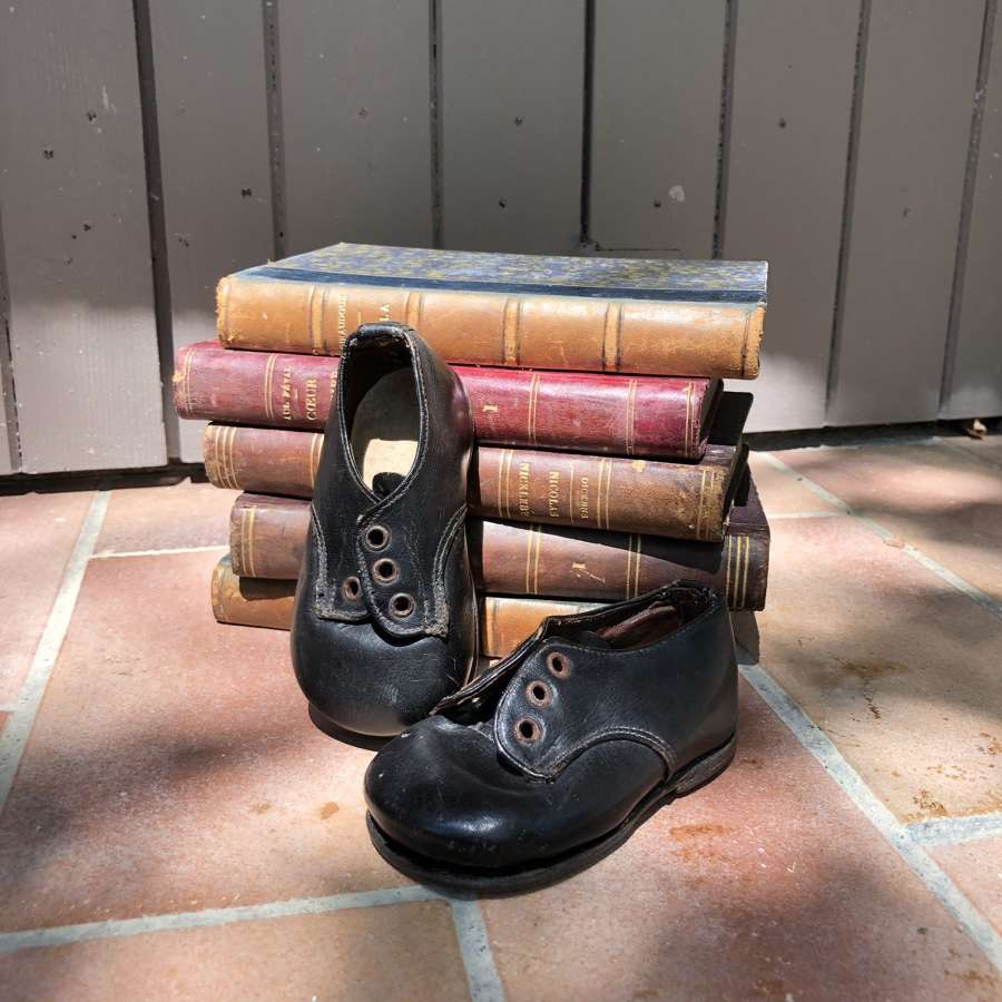Antique French Petite Shoes