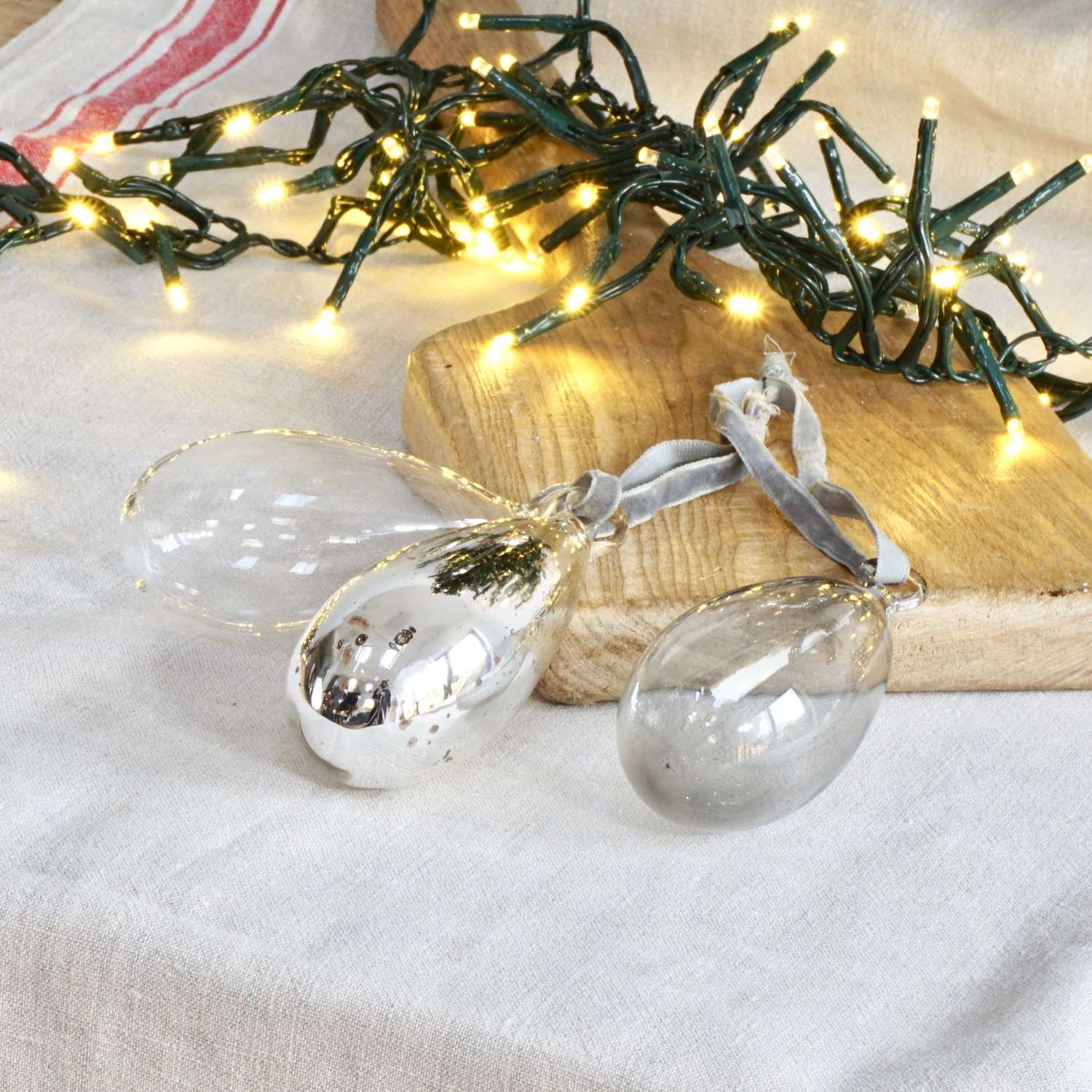 Vintage Style Glass Baubles