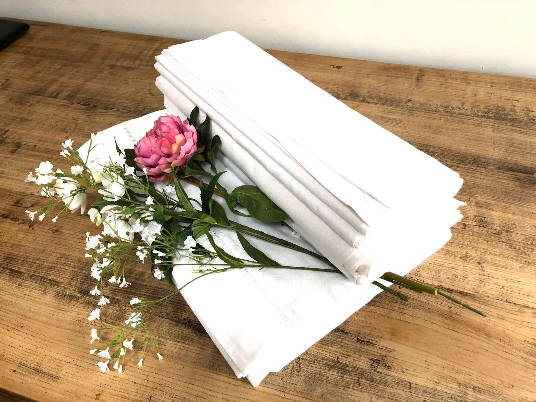 French Linen - White Plain Sheets