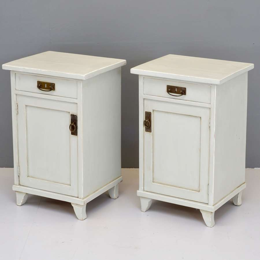 Pair of Painted Bedside Cupboards