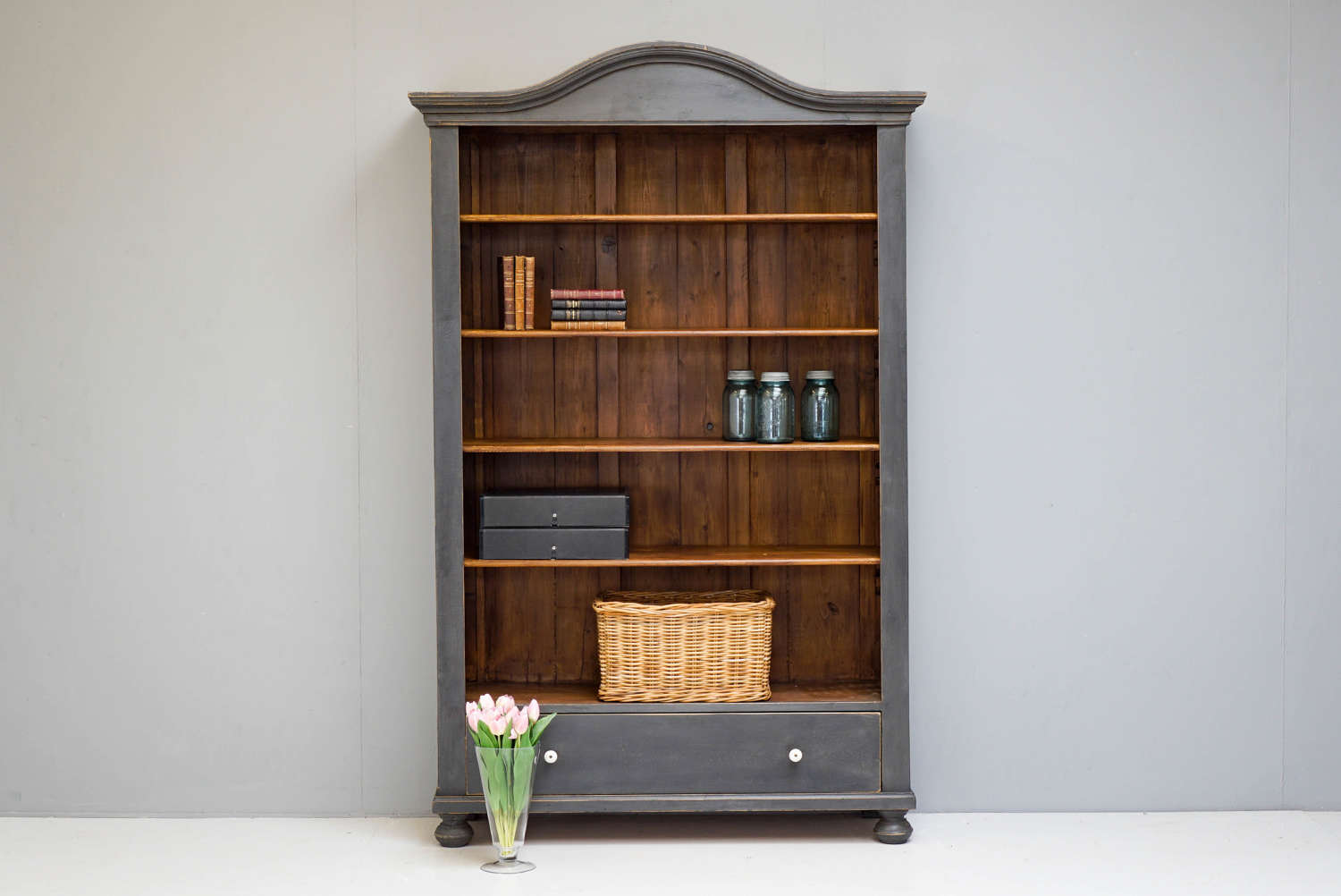 Painted Open Bookcase/Shelves